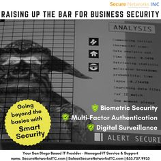 Protect your business assets like server room and desktops with biometric security and digital surveillance. We are 15 years in business and have extensive knowledge to guard and save all devices in your office. Biometric Security, Multi Factor Authentication, Disaster Plan, Managed It Services, It Service Provider, Computer Security, Home Security Systems, Natural Disasters, 15 Years