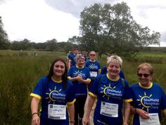 A few of the Bell & Buxton team walking for rheumatology patients on O1 ward at the Sheffield Teaching Hospitals.