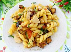 Linguine, Fish Dishes, Pasta Recipes, Pasta Salad, Waffles, Food And Drink, Cooking, Ethnic Recipes, Kitchen