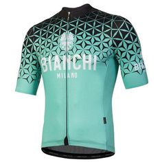 Bianchi Milano Conca Sleeve Cycling Jersey - Celeste - Made in Italy Cycling Wear, Bike Wear, Cycling Jerseys, Cycling Outfit, Bicycle Jerseys, Sports Jerseys, Cycling Tops, White Jersey, Sport Wear