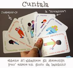 le carte da gioco Cuntala, per giocare a demolire gli stereotipi!  Cuntala: a fun and creative games to reduce the distance between different nationalities and to challenge gender stereotypes