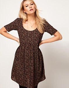 ASOS Smock Dress In Paisley