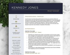 Proffesional Resume Professional Resume Template For Word & Pages 1 2 And 3 Page .