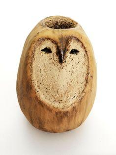 Gartendekoration - Gartenstele...*Große Eule* - Unikat-Keramik...... - ein Designerstück von zeit-geister bei DaWanda