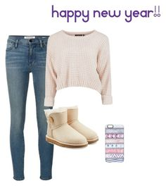 """""""Happy new year!"""" by emilycarrico ❤ liked on Polyvore featuring Frame Denim, UGG Australia and Casetify"""