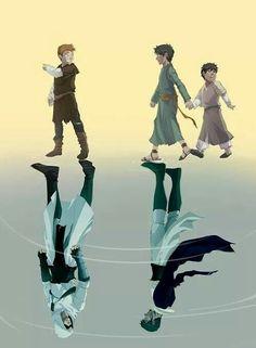 Altair, Malik, and Kadar. Love the reflection of childhood vs. post-Solomon's Temple selves.