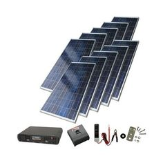 Check out this 1300 watt solar panel kit from Sunforce (the world's largest solar panel manufacturer).  Sunforce Products ProSeries Solar Backup Power System - 1300 Watts