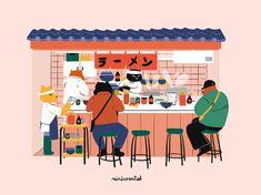 Jenny Lelong is a freelance graphic designer and illustrator : branding, illustration, packaging, web design, art direction. Japan Design, Japan Graphic Design, Freelance Graphic Design, Japan Illustration, Graphic Design Illustration, Digital Illustration, Graphic Illustrations, Book Art, Japon Tokyo
