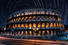 Star streaked Colosseum, Rome | Italy(by Ewan Tupper)