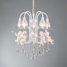 Crystal Resin Angel Baby Dining Room Ceiling Pendant LampChandelier Fixtures #OUOVO #Contemporary