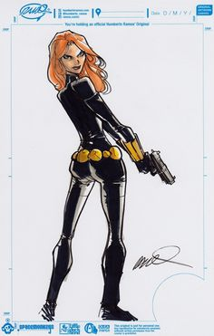 Humberto Ramos Black Widow Big Wow Comic Fest 2013