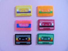 Cassettes hama beads mini by Soledad Hernandez