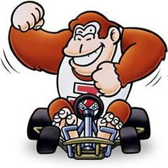 A collection of official artwork images from Super Mario Kart on the SNES including the main characters like Mario, Luigi, Bowser, Toad, Yoshi and Princess Toadstool and their karts. Mario Kart 8, Super Mario Kart, Super Mario Brothers, Mario Bros., Super Nintendo, Donkey Kong Junior, Video Game Art, Video Games, Princess Toadstool