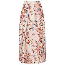 Buy L.K. Bennett Tiara Floral Diamond Skirt, Pastel Peach Online at johnlewis.com