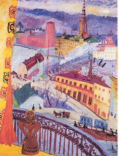 Sigrid Hjerten (1885-1948): Utsikt över Slussen