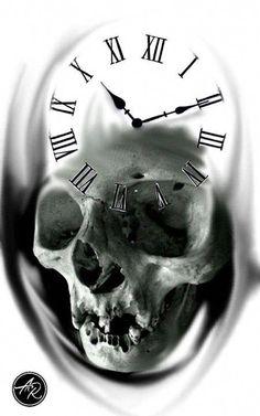 skeleto n watches for men Evil Skull Tattoo, Skull Tattoo Design, Skull Design, Skull Tattoos, Design Tattoos, Tattoo Caveira, Angel Devil Tattoo, Realistic Rose Tattoo, Mechanic Tattoo