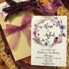 Davetiye / Wedding invitation www.masalsiatolye.com #masalsiatolye #davetiye #weddinginvitation