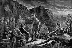 Meeting Of The Molly Maguires, 1874, photo credit: Everett #MollyMaguires