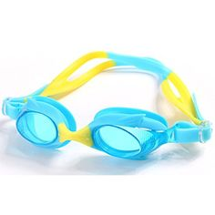 6013c11ec942 GSLee Unisex Toddles Kids Swimming Goggles with FREE Protective Case Ear  Plugs with AntiFog Mirror