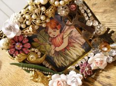 Vintage Finds And Roses Picture Frame