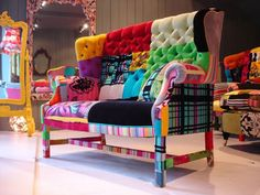 patchwork sofa....OH GEE, I Need!