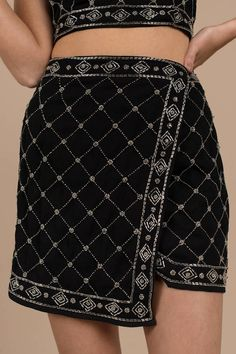 Tahitian Tide, Black, In the Moment Embellished Skirt, Tobi Haute Couture Style, Couture Details, Kpop Fashion, Runway Fashion, Womens Fashion, Edgy Outfits, Skirt Outfits, High Fashion Dresses, Fashion Outfits