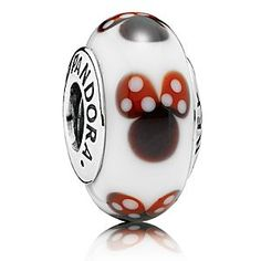A stunning example of PANDORA's dedicated craftsmanship, the sweet Murano glass charm is filled with colorful Minnie silhouettes. Each charm is truly unique and a great way to add a bit of fun and individuality to your bracelet.