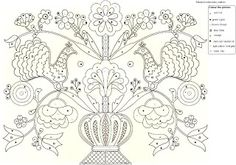 A magyar kultúra tanítása - Teaching Hungarian Culture: rábaközi hímzések… Hungarian Embroidery, Folk Embroidery, Learn Embroidery, Floral Embroidery, Chain Stitch Embroidery, Embroidery Stitches, Embroidery Designs, Stitch Head, Design Blog