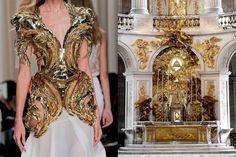 Valentin Yudashkin RTW Spring 2014 // Palace of Versailles by Maximillian Puhane Fashion Collage, Fashion Prints, Fashion Art, High Fashion, Valentin Yudashkin, Fashion Images, Fashion Details, Architect Fashion, Fashion Architecture