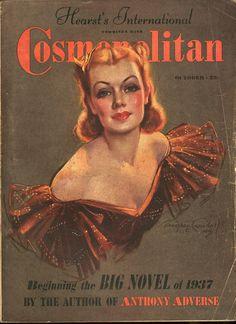 "Cosmopolitan magazine, OCTOBER 1937 Artist: ""Ready for Romance"" Bradshaw Crandell"