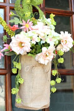 Burlap and Flowers |