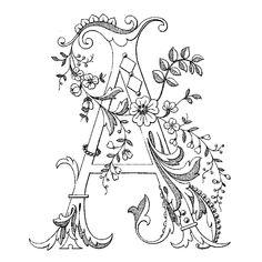 Английский алфавит«Монограммный»