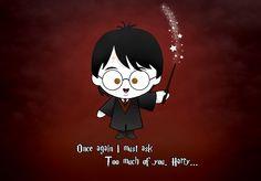 a tiny Harry Potter