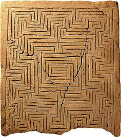 World's oldest labyrinth illustration, c. 2000-1700 BC,...
