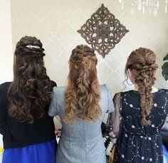 結婚式およばれ早朝セット✨  ご来店ありがとうございました😉❤ #ヘアセット #ヘアアレンジ #ハーフアップ #編み込み #ゆるふわ #編み下ろし #hairset #halfup #braidedhair #hairarrange #Welina #hitomiyanagida #myworks #お客様photo