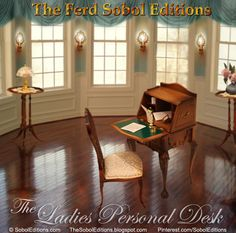 The Ferd Sobol Editions shares the story of the inspiration for this 1:12 scale edition. Each Ladies Personal Desk is accompanied by a mini copy of a love letter written by Ferd to his fiance Millie when he was a serviceman stationed overseas. Read the romantic story with many more photos of them, and see this lovely edition being built: http://thesoboleditions.blogspot.com/2013/03/Ladies-Personal-Desk-Sobol.html