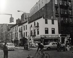 1960s NYC west greenwich village BLEECKER and CHRISTOPHER Street New York City Vintage Photo #nyc