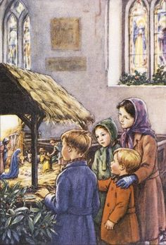 Christmas art by Cicely Mary Barker