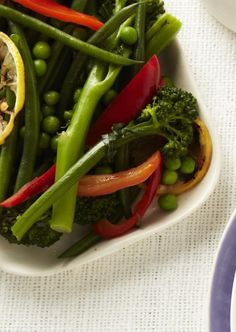 Spring Vegetable Saute from familycircle.com #myplate #beans