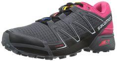 Salomon Women's Speedcross Vario W Trail Running Shoe, Black/Hot Pink/Dark Cloud, 10 B US