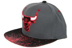 Chicago Bulls SPLATTER SNAPBACK Mitchell  amp  Ness Adjustable HWC NBA Hat  - http   a9f752281ad3