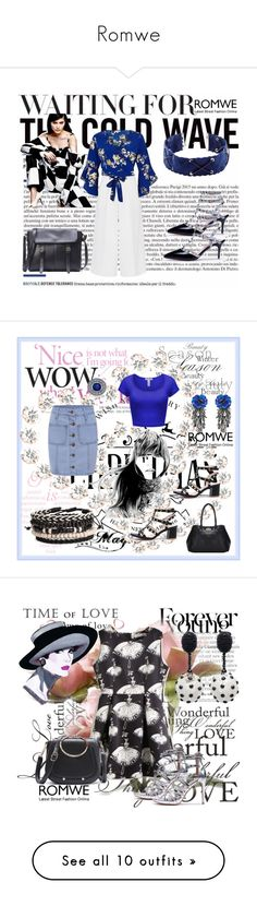 """""""Romwe"""" by dinka1-749 ❤ liked on Polyvore featuring Victoria, Victoria Beckham, River Island, Forest of Chintz, Allurez, Gucci, Oscar de la Renta, Accessorize, Topshop, MaxMara and Christian Louboutin"""