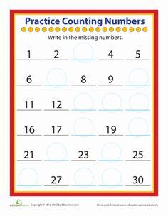 Kindergarten Counting & Numbers Worksheets: Practice Counting Numbers