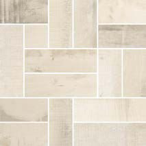Old Wood Series, White Ash / White Ash 12x12 Mesh-mounted Mosaico Deck