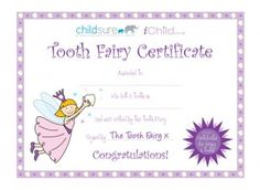 Free printable tooth fairy certificate with tooth chart kiddos this printable tooth fairy certificate is great to reward your child when they lose a tooth yelopaper Choice Image