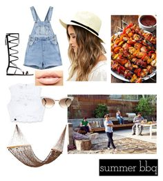 """BBQ and fam. ❤"" by musaddika on Polyvore featuring interior, interiors, interior design, home, home decor, interior decorating, Bebe, LULUS, MDMflow and Gucci"