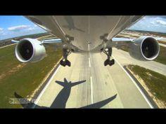 """PilotsEYE.tv - HKG - Hong Kong - Boeing 777F - AeroLogic - Cargo - """"Typhoon Warning"""""""