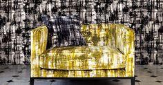 Die Tapete Jackson beeindurckt mit ihrem abstrakten Design. Die Beflockung schafft wunderebare Effekte.