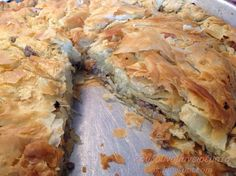 Greek Pastries, Filo Pastry, Flour Recipes, Spanakopita, Pie, Cooking, Ethnic Recipes, Master Chef, Foods
