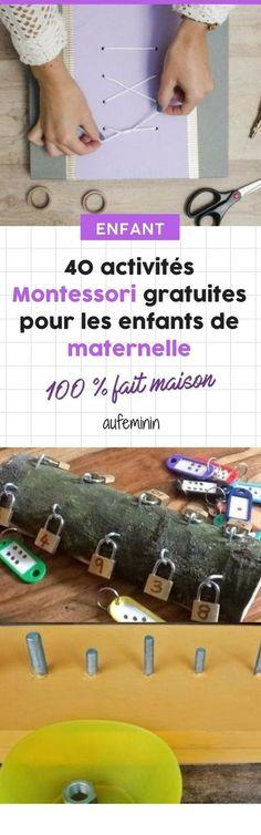 40 activités Montessori gratuites pour les enfants de maternelle